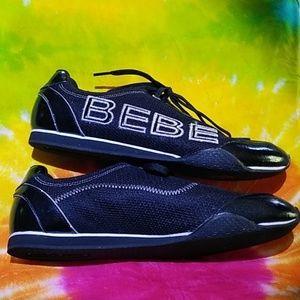 bebe Shoes - BEBE SPORT BLACK/SILVER SHOES-SIZE 8.5-WORN ONCE
